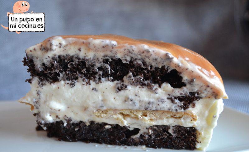Tarta de galleta y caramelo