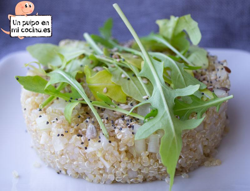 Ensalada de quinoa. Receta paso a paso.