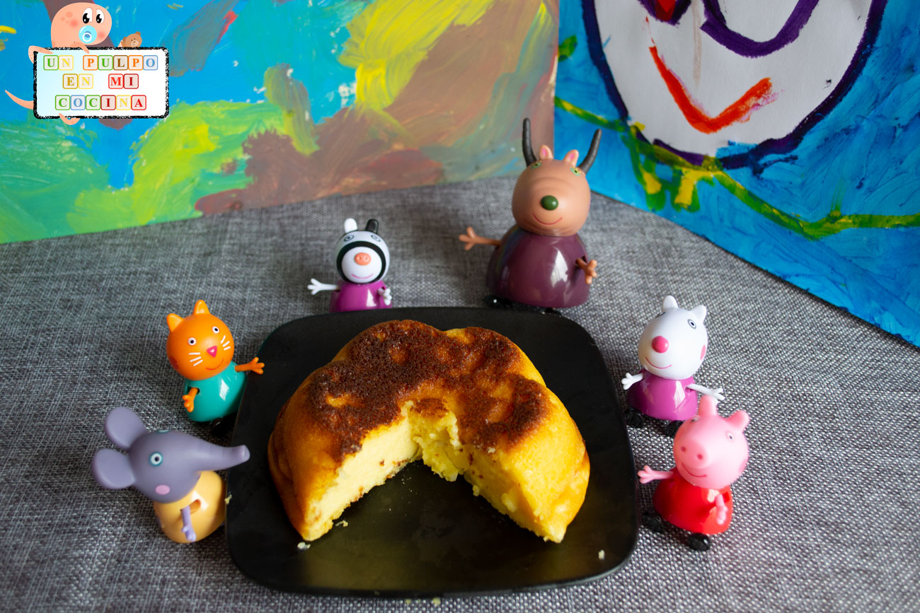Tarta de queso con niños