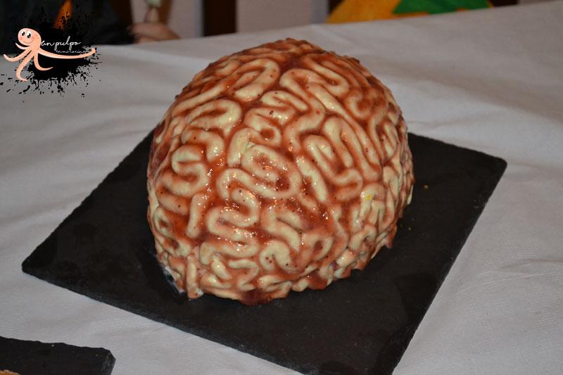 🧠 Tarta cerebro para Halloween. Una tarta terrorífica.