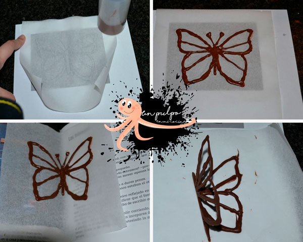 mariposa de chocolate