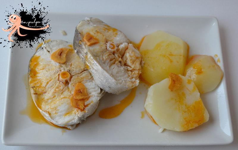 Merluza con allada 🧄, un aliño  para el pescado blanco