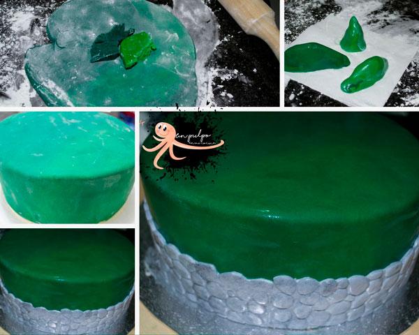 cubrir la tarta