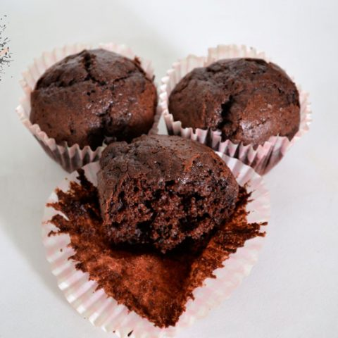 muffins de chocolate intenso